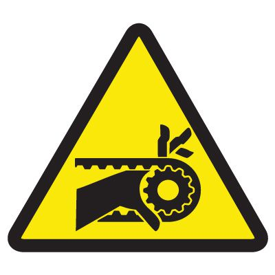 International Symbols Labels - Chain Drive Entanglement Hazard