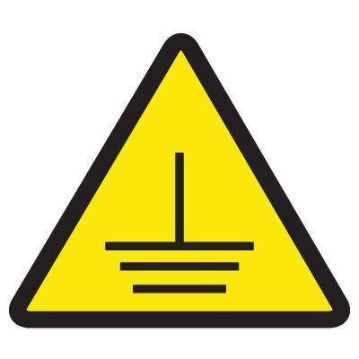 International Symbols Labels - Electric Ground Hazard