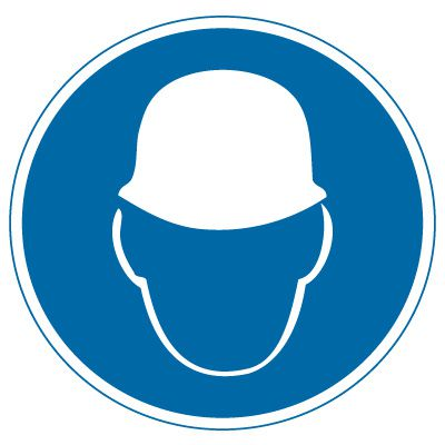 International Symbols Labels - Wear Head Protection (Graphic)