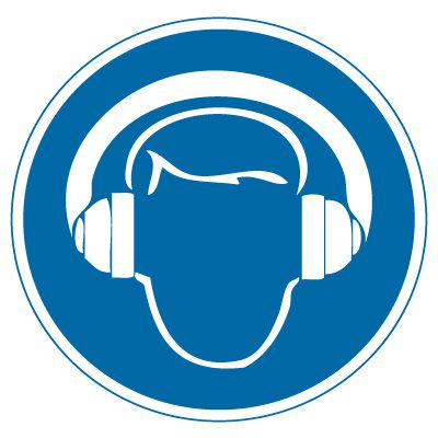 International Symbols Labels - Wear Hearing Protection (Graphic)