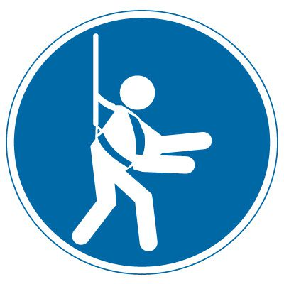 International Symbols Labels - Wear Safety Harness (Graphic)