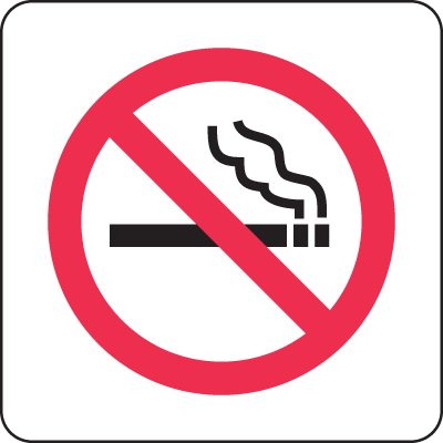 International No Smoking Symbols On A Roll