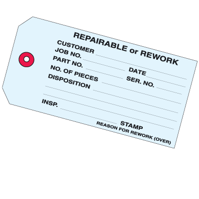 Repairable Or Rework Inventory Tags