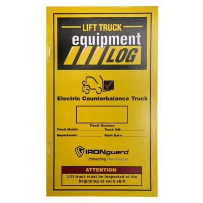 IRONguard™ Lift Truck Equipment Log Replacement