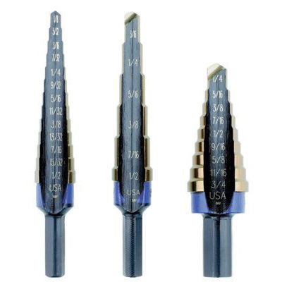 Irwin Unibit® Step Drill Sets HSS #1,2 & 3 - 10502