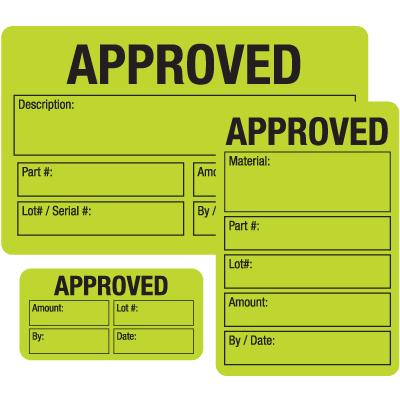 Approved ISO 9000 Labels