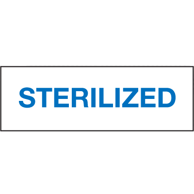 Sterilized ISO Status Signs