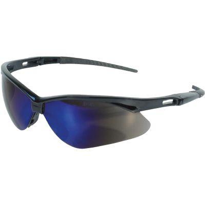 Jackson Safety® Nemesis™ Safety Glasses Black Frame-Blue Mirror Lens 14481