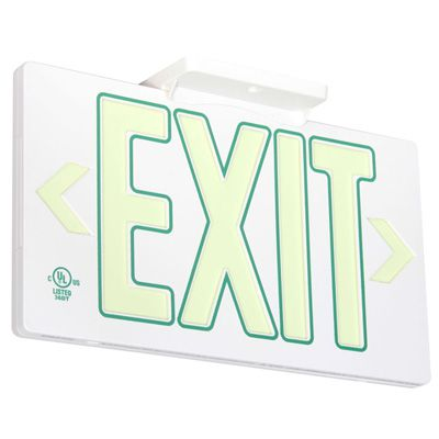 Glo Brite® 50 or 100-ft Zero Energy Photoluminiscent Exit Signs 7122-B