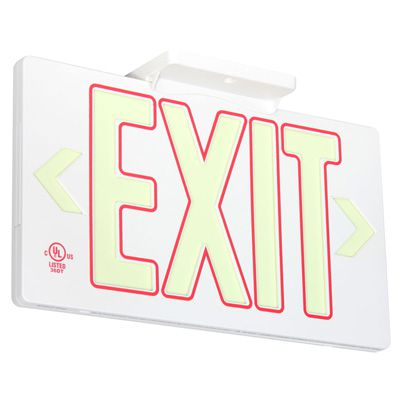 Glo Brite® 50 or 100-ft Zero Energy Photoluminiscent Exit Signs 7132-B