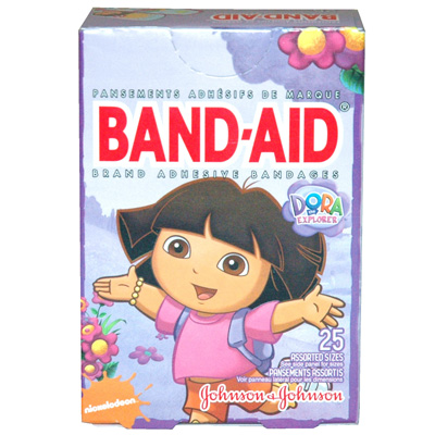 Johnson & Johnson Girls Band Aids