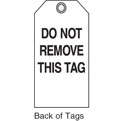 Jumbo Safety Tags - Warning Header Only