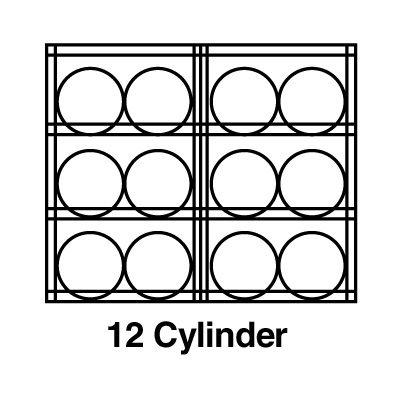 Justrite® Aluminum Cylinder Storage 23004