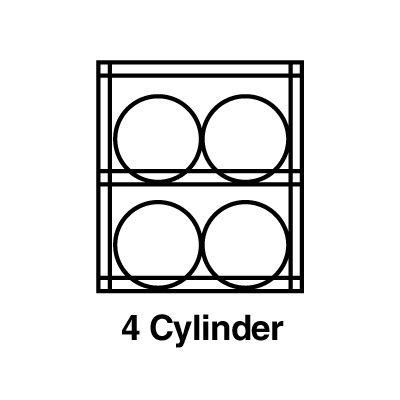 Justrite® Aluminum Cylinder Storage 23001