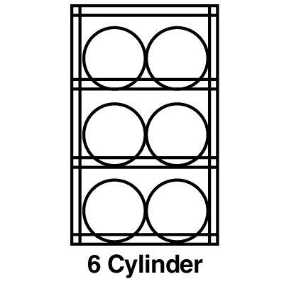 Justrite® Aluminum Cylinder Storage 23002