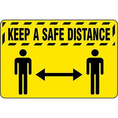 Keep A Safe Distance - Safety Message Mat
