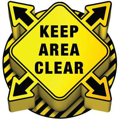 3D Floor Marker - Keep Area Clear