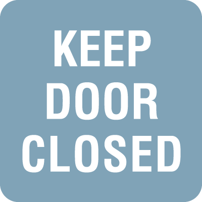 Keep Door Closed Optima Policy Signs