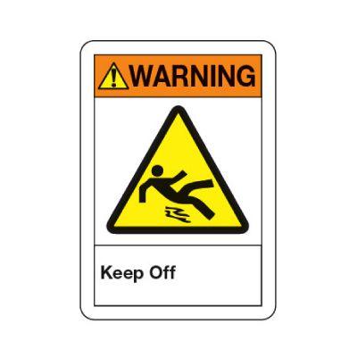 ANSI Warning Sign - Keep Off