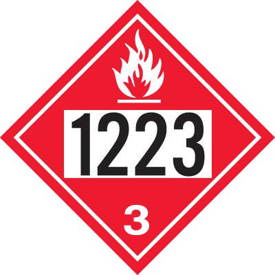 1223 Kerosene - DOT Placards