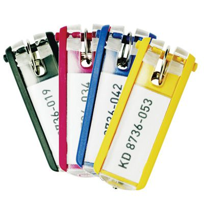 Key Control System Extra Colored Key Tags - Assorted Color Package
