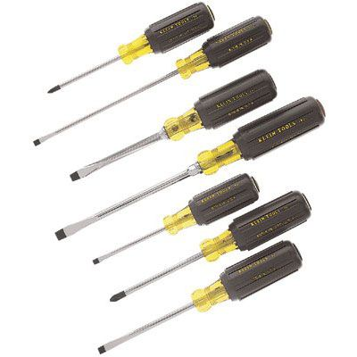 Klein Tools - 7 Pc. Cushion-Grip Screwdriver Sets 85076