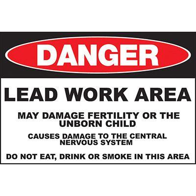 Danger Lead Work Area Sign