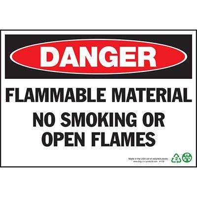 Danger Flammable No Smoking Sign