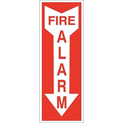 Fire Alarm with Arrow Sign