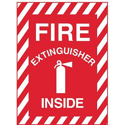 Fire Extinguisher Inside with Picto Sign