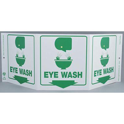 Eye Wash Tri View Sign