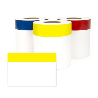 LabelTac® LT401CNT Continuous Blank Header Labels - Yellow on White
