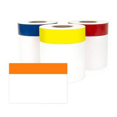 LabelTac® LT406CNT Continuous Blank Header Label - Orange on White