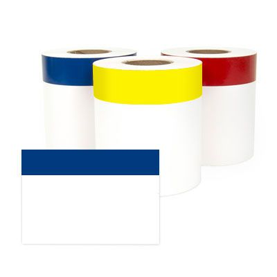 LabelTac® LT407CNT Continuous Blank Header Labels - Blue on White