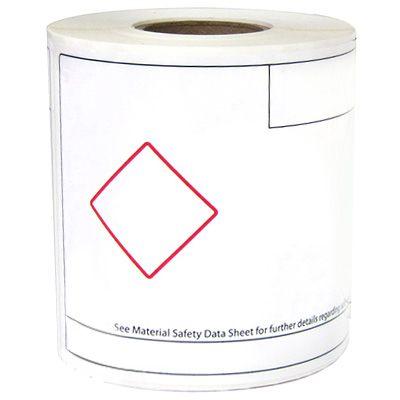 LabelTac® LT46GHS1 GHS Die-Cut Regulatory Labels - Red on White