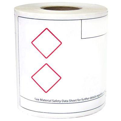 LabelTac® LT46GHS2 GHS Die-Cut Regulatory Labels - Red on White