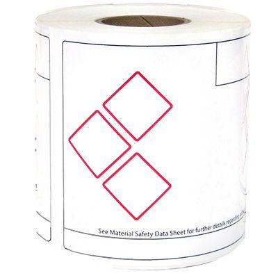 LabelTac® LT46GHS3 GHS Die-Cut Regulatory Labels - Red on White