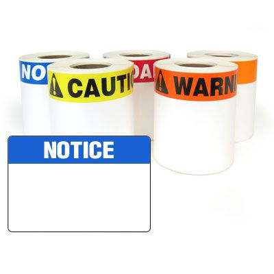 LabelTac® LT35NOTC Pre-Printed Header Die-Cut Labels - Notice
