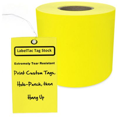 LabelTac® LT301TAG Tear-Resistant Tag Stock - Yellow