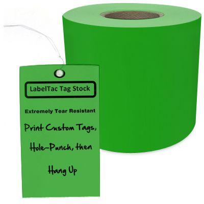 LabelTac® LT305TAG Tear-Resistant Tag Stock - Green