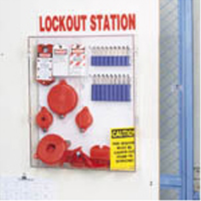 Brady Adjustable Valve Lockout Station with Electrical Plug Lockout (65298)