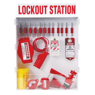 Brady Electrical & Mechanical Lockout Station for Full Isolation of Power and Valves (99703)