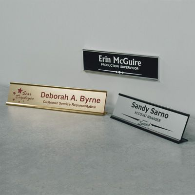 Custom Laser Etched Nameplates From Seton Stock Items Ship Today Ships Fast