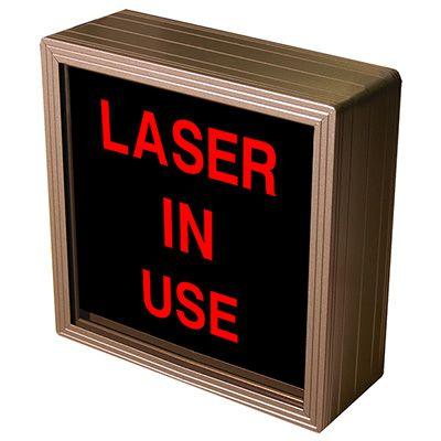Laser In Use Backlit LED Sign