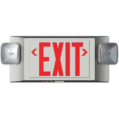 LED Exit Sign w/Emergency Lights