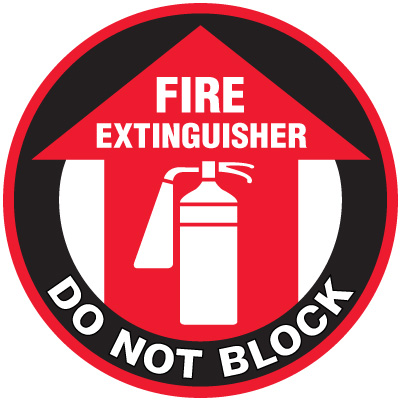 Lexan Heavy Duty Floor Markers- Fire Extinguisher Do Not Block