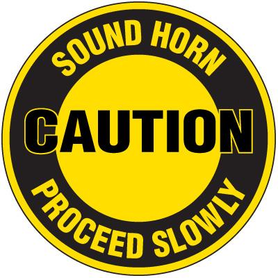 Lexan Heavy Duty Floor Markers-Caution Sound Horn