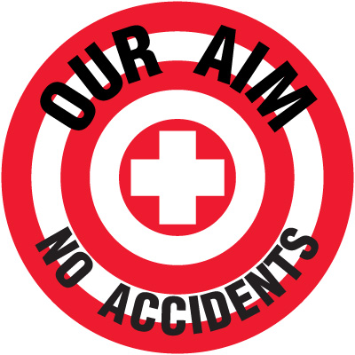 Lexan Heavy Duty Floor Markers-Our Aim No Accidents