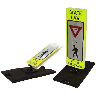 Lightweight Crossing Guard Sign