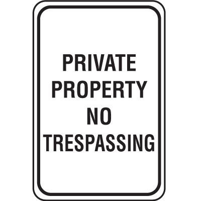 Lightweight Parking Signs - Private Property No Trespassing